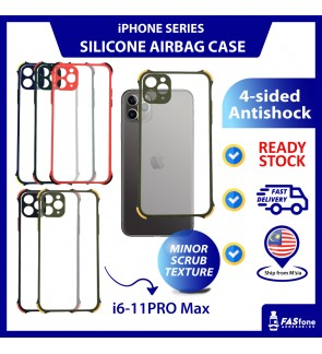 (Ready Stocks) iPhone 6 6s 7 8 Plus X Xs 11 Pro Max Case Matte Anti Shock Protection Frosted Camera Full Coverage