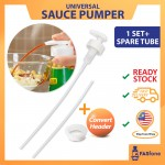 (Ready Stock) Household Kitchen Tools Sauce Bottle Converter Oyster Sauce Pumper Press Nozzle Air Vacuum Head All Size