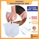 (Ready Stock in Malaysia) Silicone kneading Dough bag Food Storage Flour Mixing Bag Baby Food Processor Manual