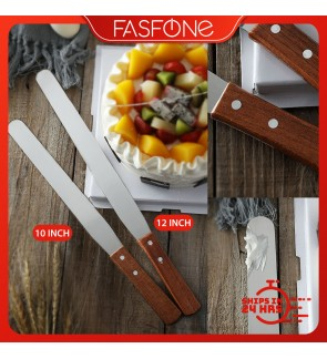 Stainless Steel Whipping Cream Straight Knife Cake Spatula Butter 10 12 Inch Smoother