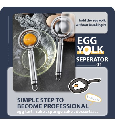 Stainless Steel Egg Yolk Seperator Egg White Divider Tools Kitchen Cooking Gadget Sieve Tool Home and Living