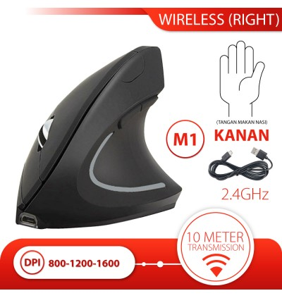 Gaming Mouse Wireless Mouse Vertical Mouse Portable Ergonomic 2.4G Battery Mouse Portable Silent Click USB Receiver