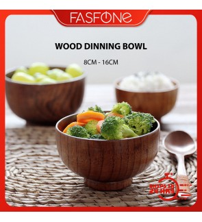Natural Solid Wooden Bowl Kitchen Dinning Tableware Jujube Rice Soup Food Utensils
