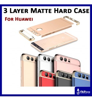 3 in 1 Fashion 3 Layer Matte Hard Case for Huawei P9 Lite Plus (6 Colors)