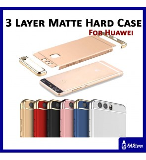 3 in 1 Fashion 3 Layer Matte Hard Case for Huawei P10 Lite Plus (6 Colors)