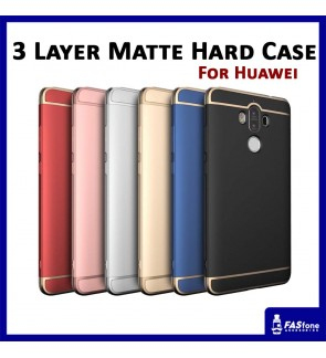 3 IN 1 Fashion 3 Layer Matte Hard Case for Huawei Mate 9 (6 Colors)