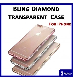 Apple iPhone 5 5S SE 6 6S Plus Luxury Bling Diamond Rhinestone Transparent Case