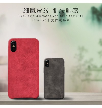 Crazy Horse Soft PU Leather Case for iPhone 7 8 Plus X