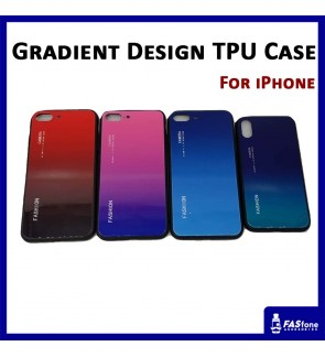 Gradient iPhone Glass Case for 6 6s 7 8 Plus X Xs