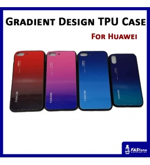 Gradient Glass TPU Case for Huawei P20 Pro Nova 3e Honor 10 Play