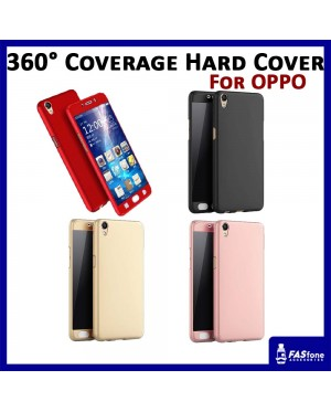 360 Degree Coverage Phone Slim Hard Cover Case Oppo R9s Plus A39 A57 A77 F3