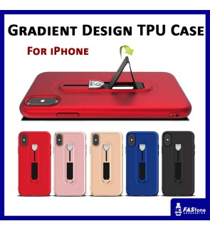 Multi Purpose Rind Stand TPU Plating Soft Case for Apple iPhone X