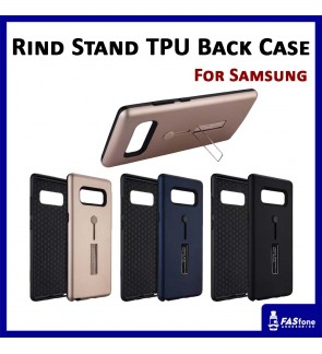 Multi Purpose Rind Stand PC TPU Back Case for Samsung S7 Edge S8 S9 Plus Note 8