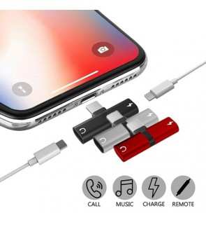 iPhone Dual Lightning Adapter 7 8 Plus X Xs Max XR Apple
