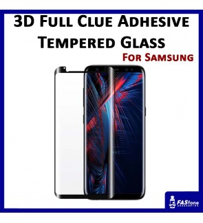3D Full Glue Adhesive Tempered Glass for Samsung S8 S9 Plus Note 8
