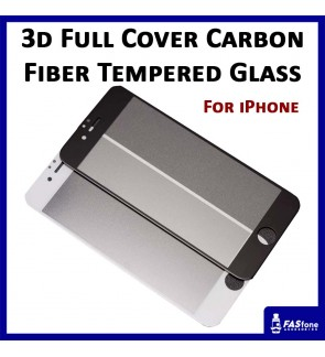 3D Carbon Fibre Full Cover Matte Tempered Glass for iPhone 6 6S 7 8 Plus X