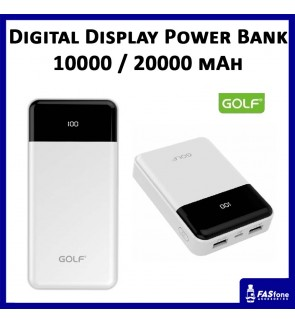 GOLF Digital Display Full Capacity 10000 20000 MAH Power Bank G32 G33