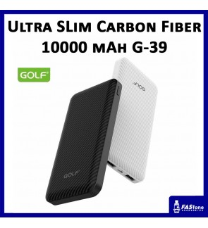 Golf Ultra Slim Power Bank Carbon Fiber Surface Full Capacity 10000 MAH G-39