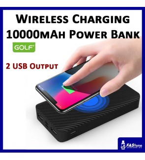 Golf Wireless Power bank Full Capacity 10000 MAH W4