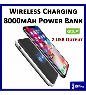 Golf Wireless Full Capacity 8000 MAH Powerbank