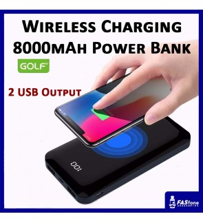 Golf Wireless Power bank Full Capacity 8000 MAH LCD Digital Full Screen