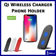 GOLF 10W Qi Wireless Smart Fast Charge Ori Charger Metal Phone Holder WQ-6