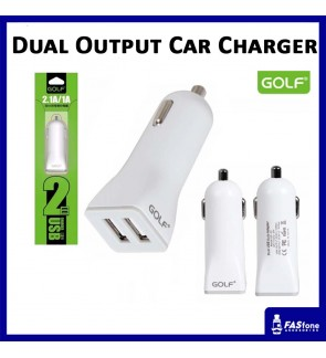 Golf Universal 2.1A Dual USB Port Car Charger GF-C2
