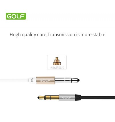 Golf 3.5mm Jack Audio Cable Male To Male Audio Aux Cable Headphone Cord GF-AUX1