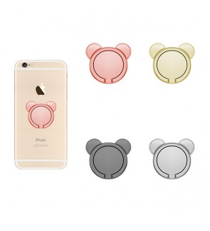 360 Degree ring stent phone holder Metal Mickey shape design ( 4 Colors )