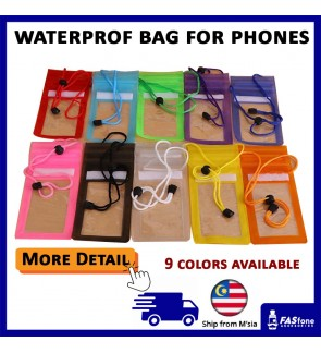 Universal Waterproof Bag for Mobile Device Phone iPhone Smartphones (10 Colors)