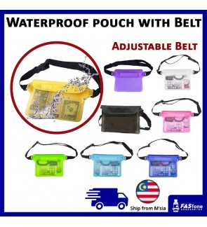 Universal Waterproof Beach Travel Pouch with Adjustable Belt for Device Phone