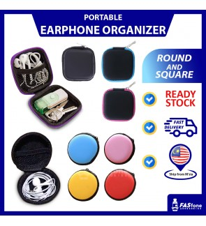 Small Fashionable Earphone Cable Coin Cosmetics Organizer / Holder