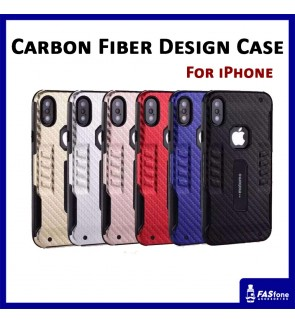 iPhone 5 5s SE 6 6s 7 Plus X Motomo Carbon Fiber Design Case Cover