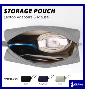 Charger Adapter Cable Mouse Pouch Bag for Laptop Macbook Air Pro