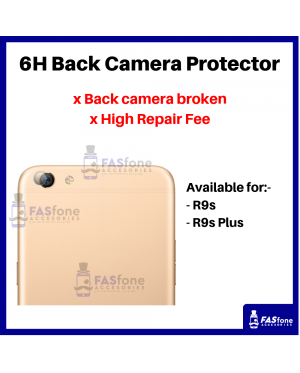 HD OPPO R9S PLUS Back Camera Tempered Glass Protector 6H