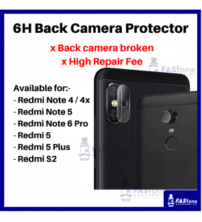HD Redmi 5 Plus Note 4 4x 5 6 7 Pro S2 Back Camera Tempered Glass Protector 6H
