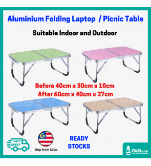 (M'sia R.Stock) Foldable Table Laptop Table Portable Table Folding Aluminium