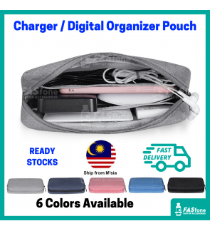 (RStocks) Charger Bag Charger Pouch Laptop Charger Pouch Storage Bag Digital Bag