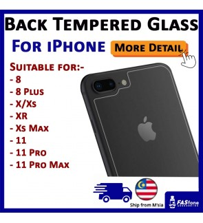 (Ready Stocks in Malaysia) 9H Back Tempered Glass for iPhone X Xs Max XR 8 Plus 11 Pro Max 12 Mini
