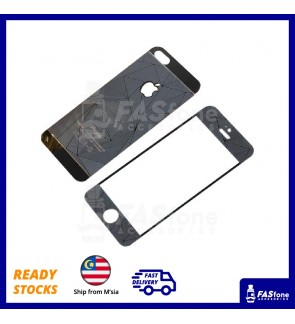 3D Tempered Glass for iPhone 5 6 6 Plus Black Color