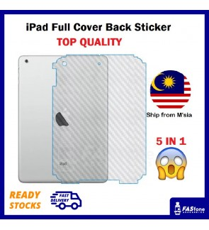 Full Cover Apple iPad Mini Pro 9.7 10.2 10.5 1 2 3 4 5 6 Air 2017 2018 2019 Back Sticker