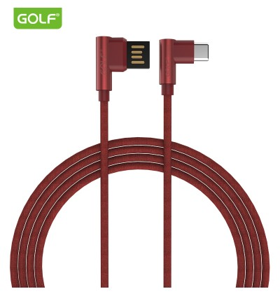 Golf 90 Degree Pudding Fast Charge Micro Usb Apple Lightning Type C Usb Cable