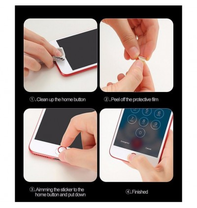 Home Button Touch ID Sticker for iPhone 5 5S SE 6 6S 7 Plus iPad Mini