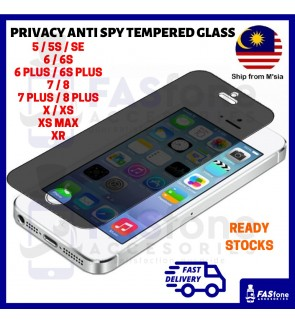 (Ready Stocks in Malaysia) iPhone 12 Mini 12 Pro Max 5 5S SE 6 6S 7 Plus X Xs Max XR Privacy Anti Spy Tempered Glass