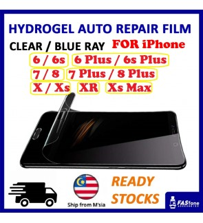 iPhone 6 6s Plus 7 8 Plus X Xs Max XR 11 Pro Max Hydrogel Soft Screen Protector Film Auto Repair Screen Full Cover