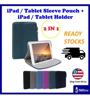 (2 in 1 New Original) iPad Tablet Holder Case Anti Knock Shock Tablet Sleeve Pouch Bag Case iPad Air 2017 2018 2019