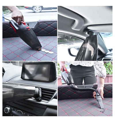 (FREE BAG + Local Ready Stocks) Car Vacuum Mini vacuum Cleaner Rechargeable vacuum Portable Handheld Household 120W USB