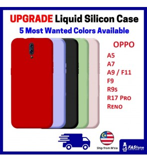 (Upgrade New) OPPO A5 / A7 / A9 / F11 / F9 / R9S / R17 PRO/ RENO / RENO 10X ZOOM Liquid Silicone Back Case Back Cover