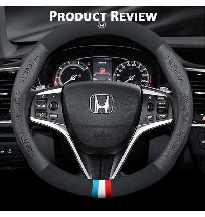 Carbon Fiber Steering Wheel Cover Leather Steering Cover for Honda City Civic CRV Jazz BRV CRZ