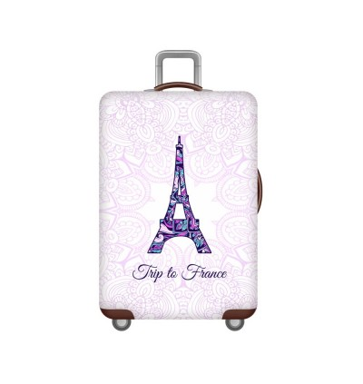 Luggage Protector Elastic Cover Luggage Suitcase Anti Scratch Dust Proof Country Theme Design Japan England America